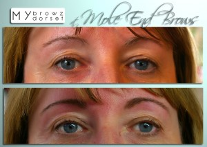 Tinted, waxed and threaded brows