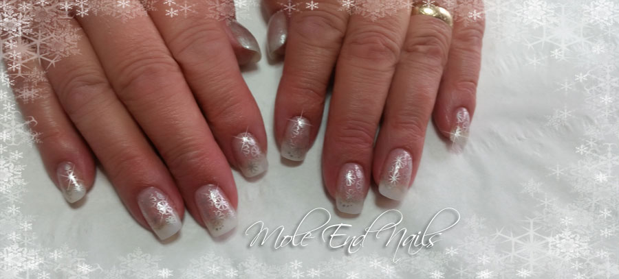 Acrylics with silver embellishments