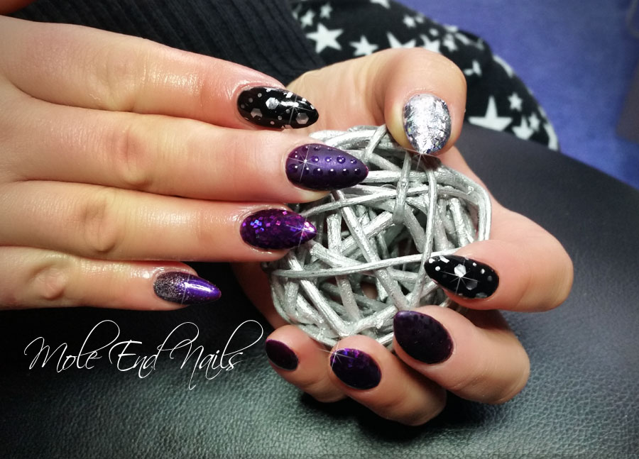 purple-gels-and-glitter-nails