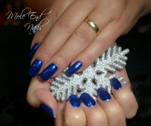 Gelish nails with snowflake