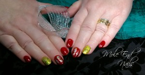 Baubles and Gold Glitter