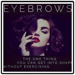 eyebrows into shape