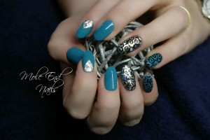 Gell ll Baby Teal with foil and stamping accents