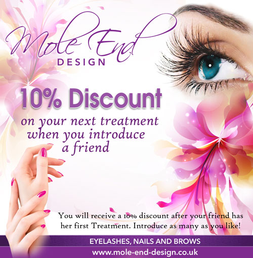 Introduce a Friend to Mole End Design's Treatments and receive a discount