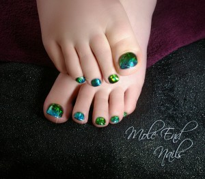 Shellac toes with Foil overlay