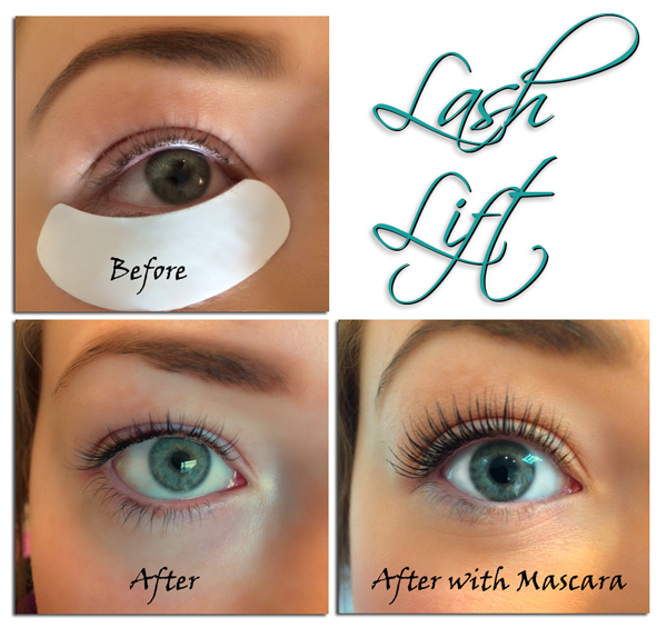 Lash Lift before and after at Mole End Design