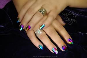Foils on natural nails
