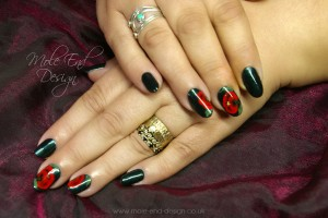 onestroke Poppies on gelish