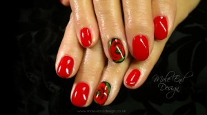 onestroke Poppies on Shellac