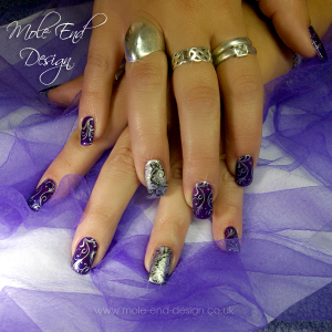 Deep Purple Gel with Stamping