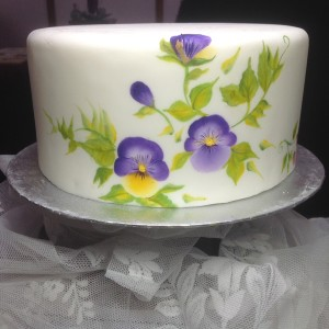 One Stroke Pansies on Sample Cakey1