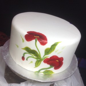 Poppy One Stroke Cake
