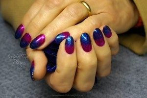 Blue Pink Glitter Ombré