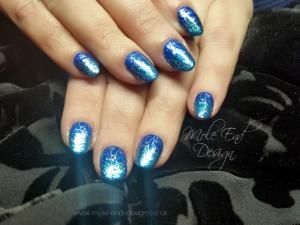 Sharon glitter turquoise