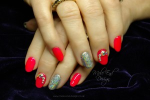 Gelish Shake it til you Samba with bling and holographic glitter