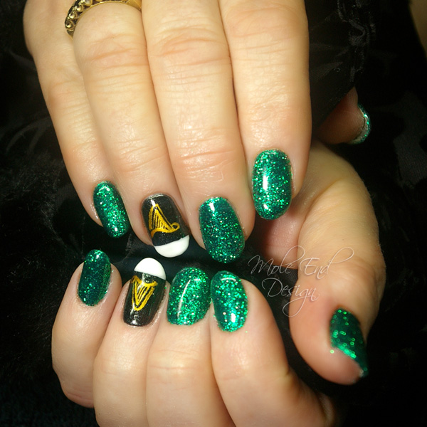 Guinness st patricks nails with harp