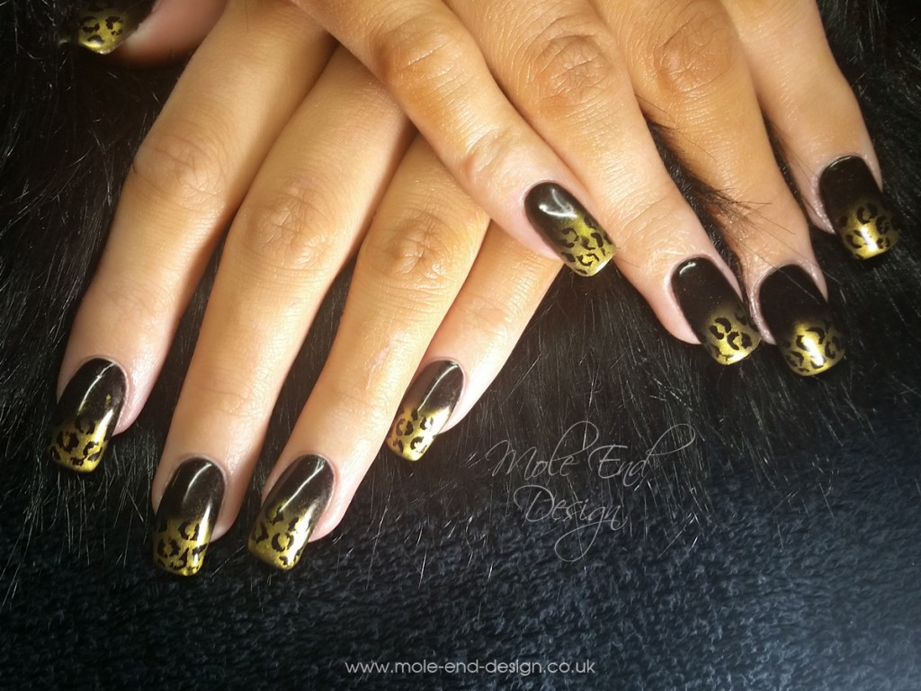 Leopard Print nails for a Bengal Cat Owner