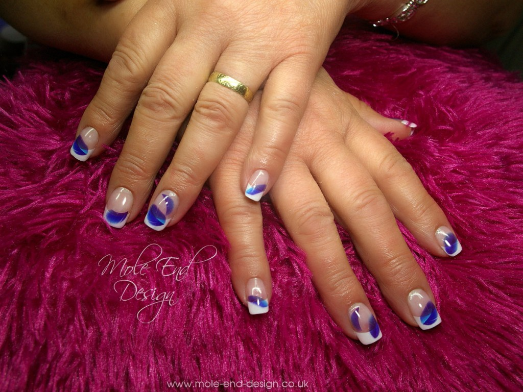 French and feather nails