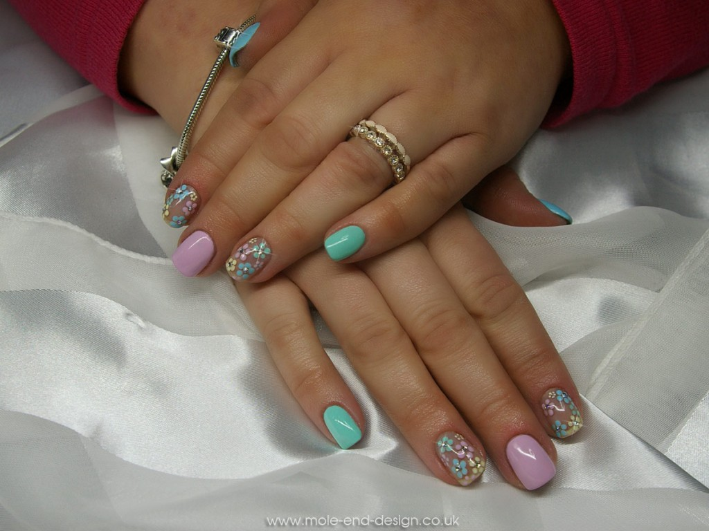 Pastel and dotty flowers