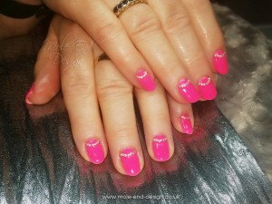 Bubblegum pink with diamantes