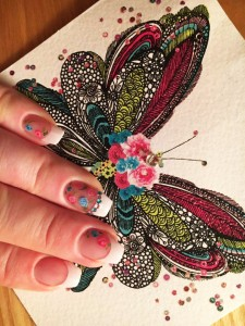 Laure fench rose butterfly