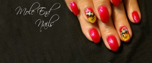 Bee nails with shellac
