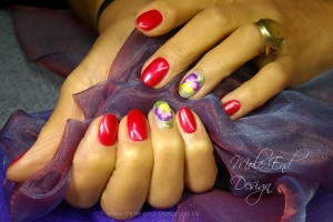 Pansies and shellac