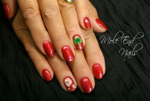 Dublin nails - with shamrock nail art