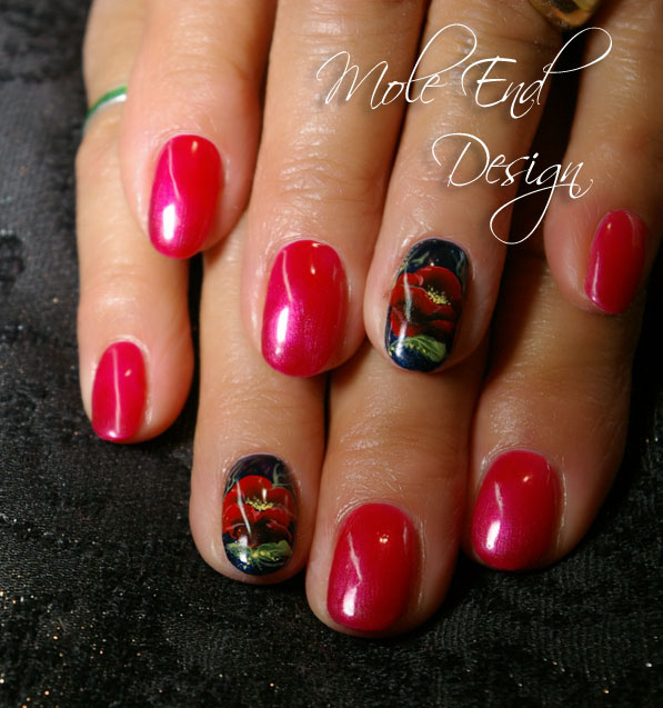Poppy Nail Art for Remembrance Day 2014