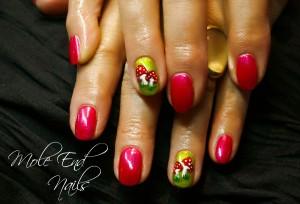 Toadstool Nail Art