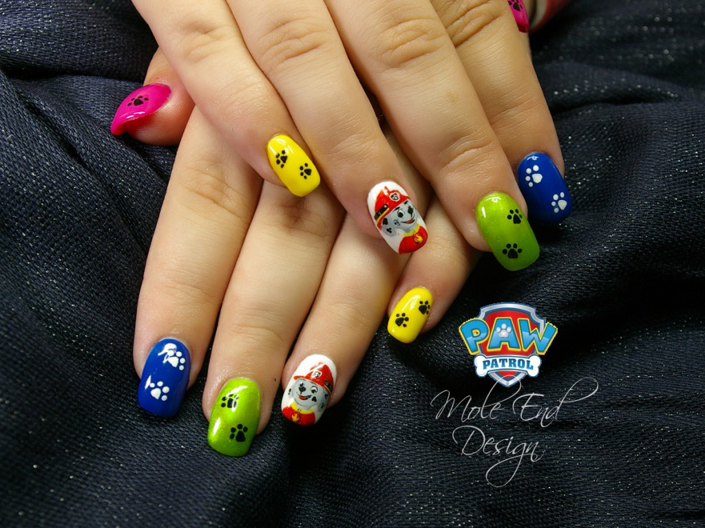 Paw patrol nails with Marshall