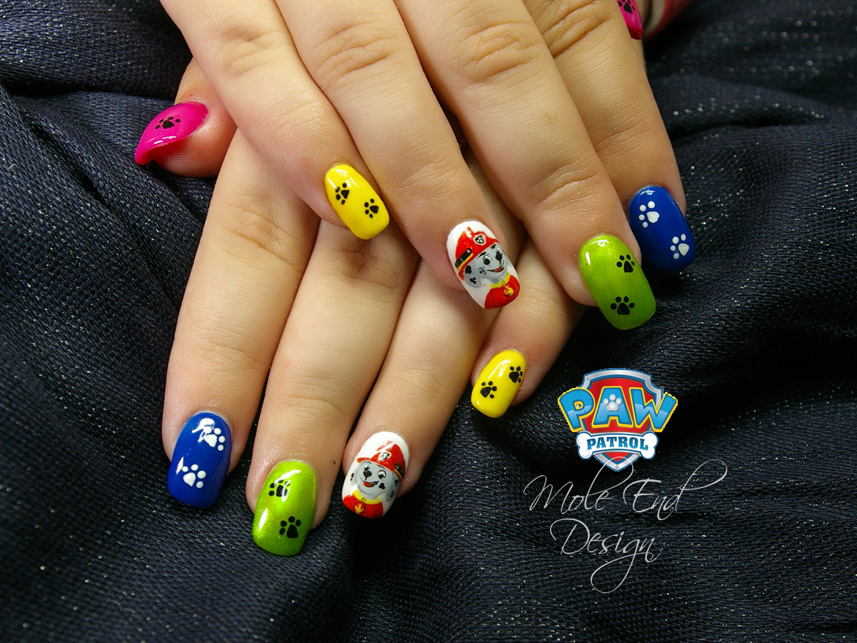 Paw Patrol Nails at Mole End Design