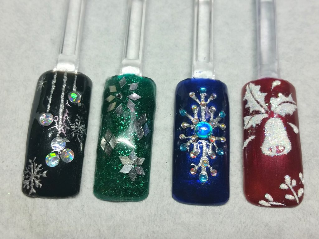 Jewelled xmas swatches