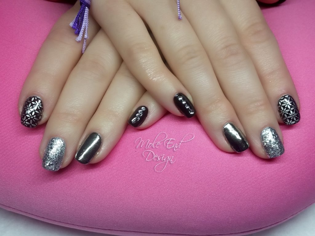Black silver chrome and rockstar