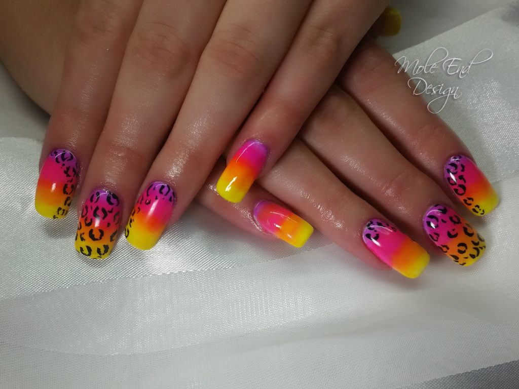 Kruger national park nails pigment neon leopard