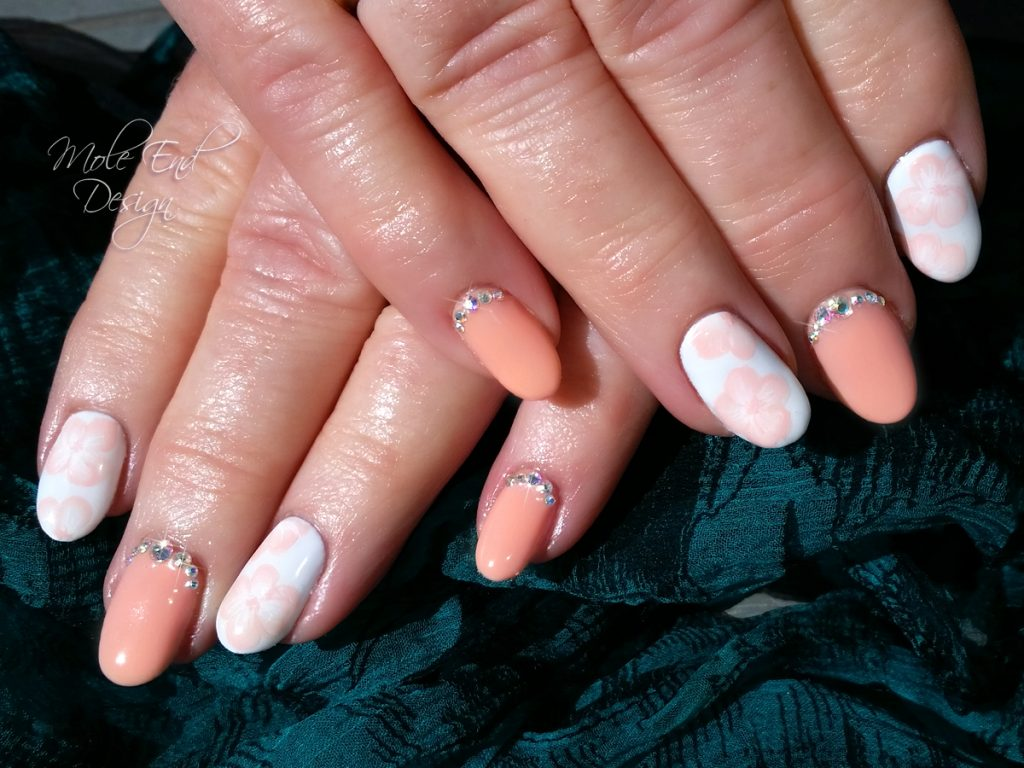 Peach cobbler with onestroke and bling