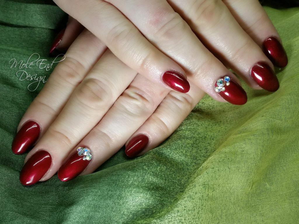 Ink London Blood diamond with Swarovski. Beautifully rich red