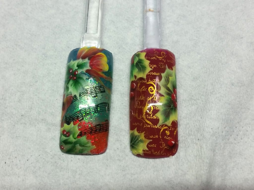 Holly and music One stroke swatches