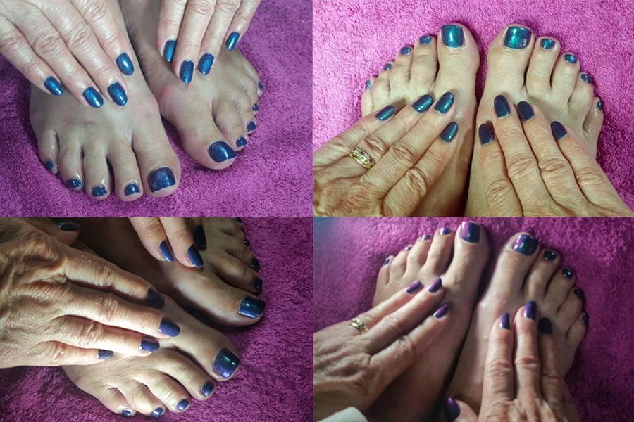 Illumina Gel Polish on fingers and toes.