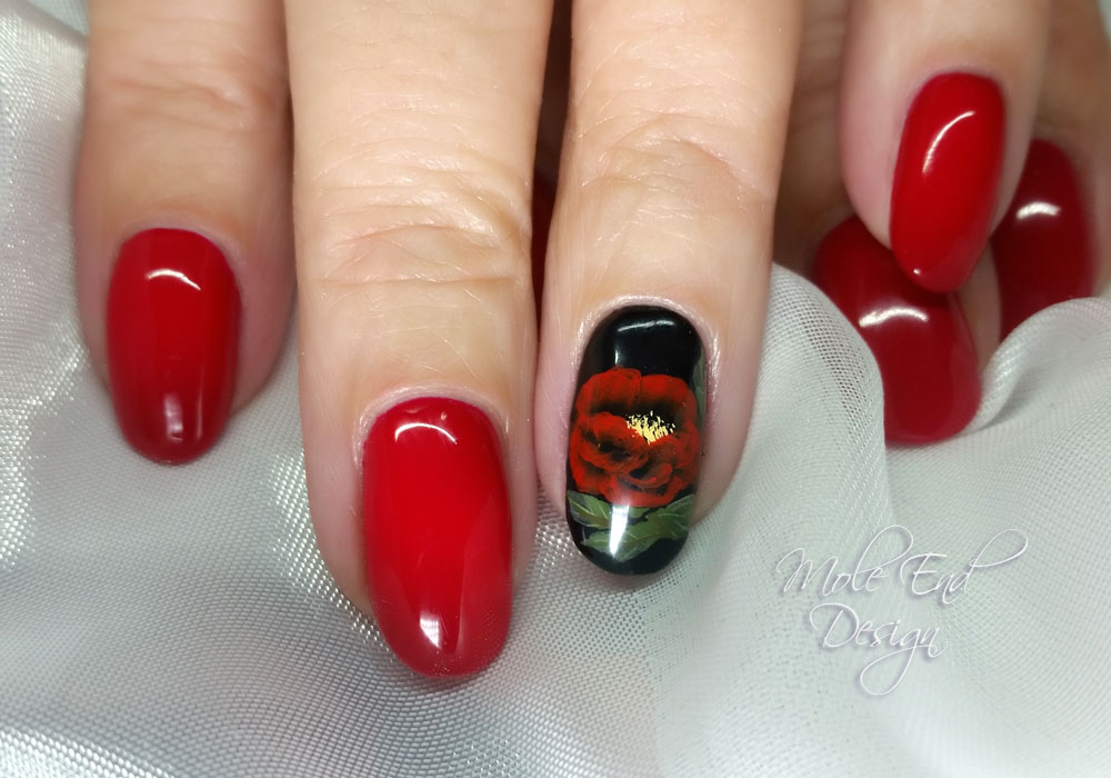 One stroke Poppy for Remembrance Day