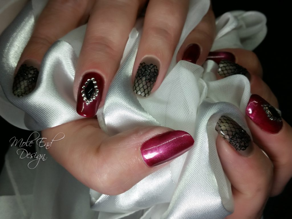 Cats eye, stockig effect and bling nails