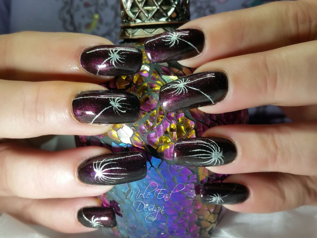 Ink and fireworks over natural nails