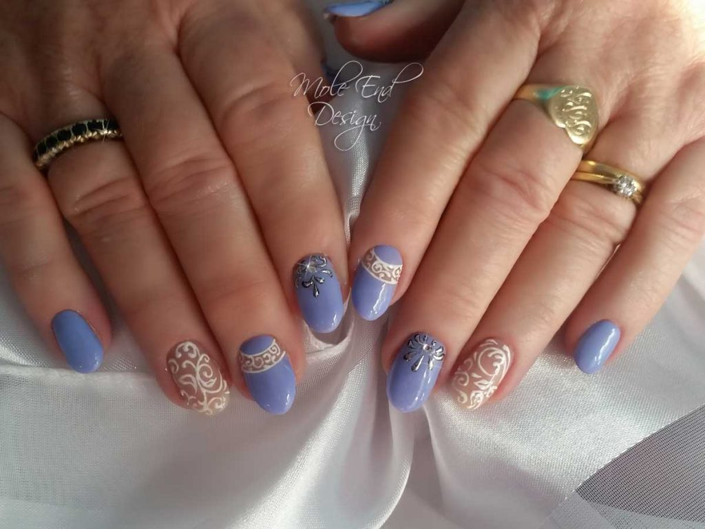 Tgb lilac with foil and filigree