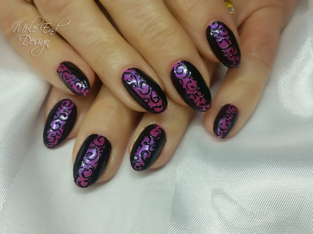 Tgb pink with black gel design