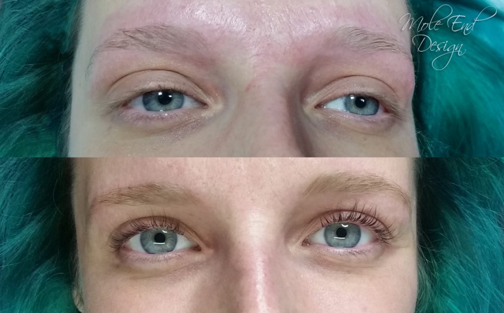 Brow thread and lash lift