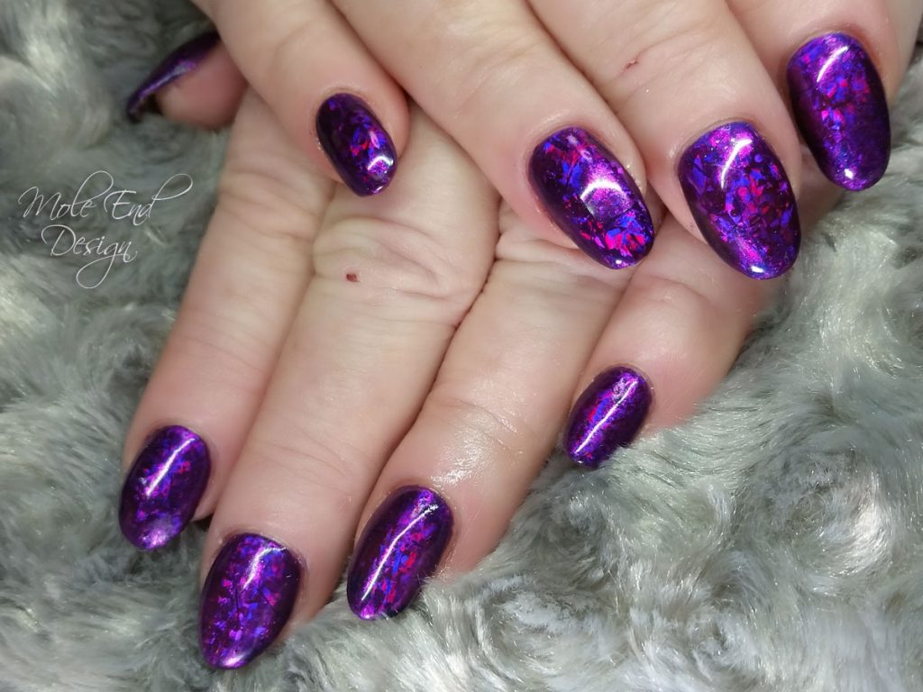 Foil and Gelish Night Reflection