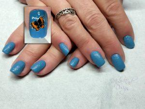 Matte blue butterfly