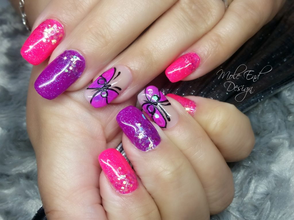Neon Ink London Disco Collection with butterflies