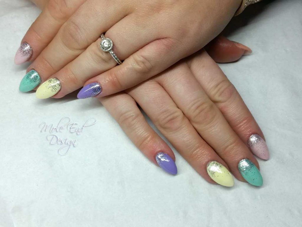 Pastel with glitter