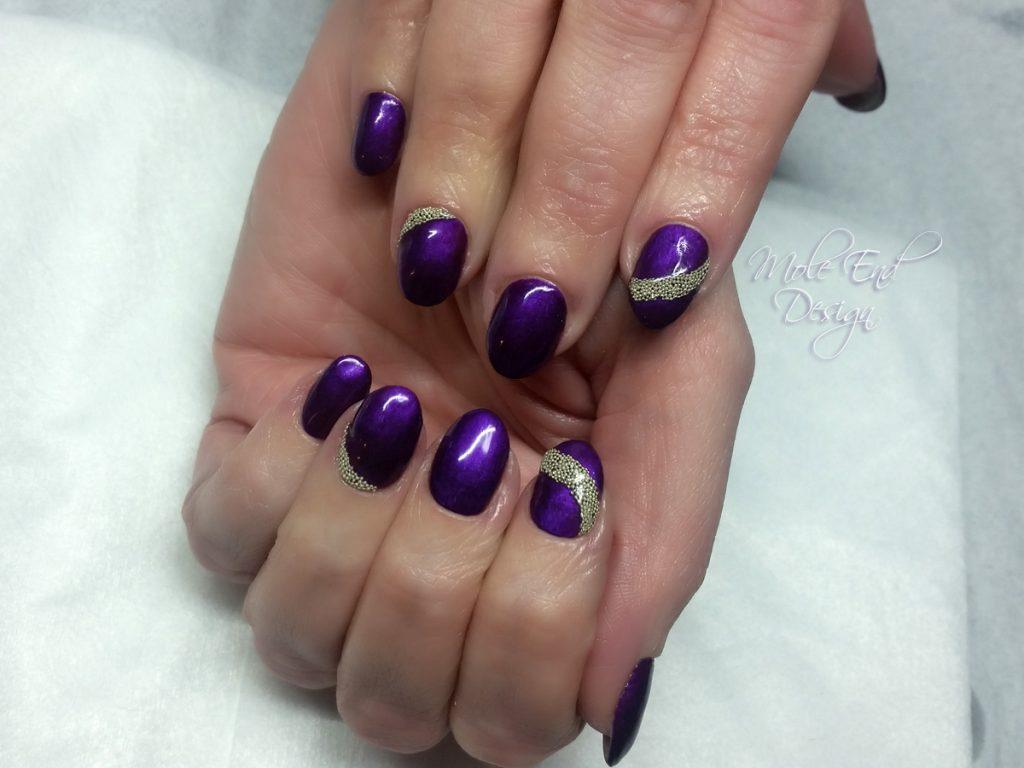 Purple caviar beads